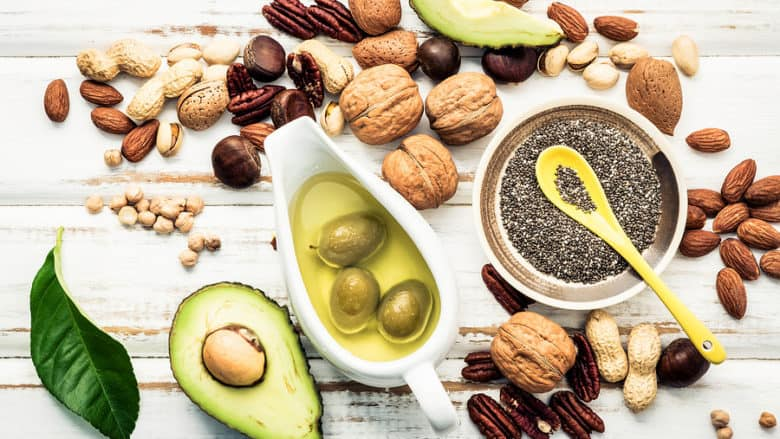 Good healthy  fats Omega 3 and unsaturated fats